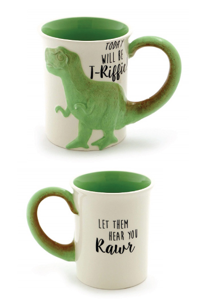 """Tea Rex"" Sculpted Mug"