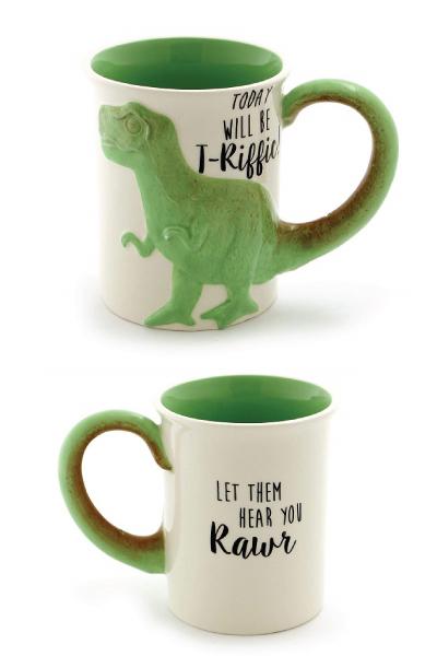 """Tea Rex"" Sculpted Mug"