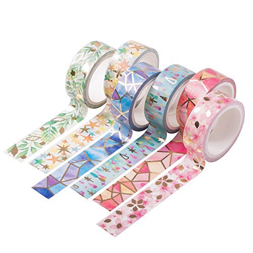 Marble Floral Gold Foil Washi Tape