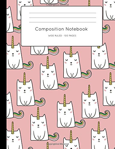 Cute Caticorn Composition Book