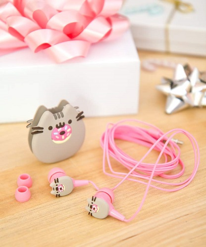 Pusheen Cat Donut Earbuds | Stocking Stuffers for Tweens