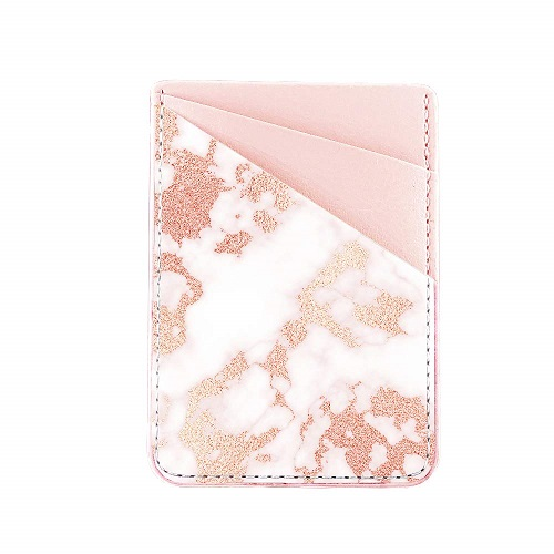 Obbii Rose Gold Marble Card Holder