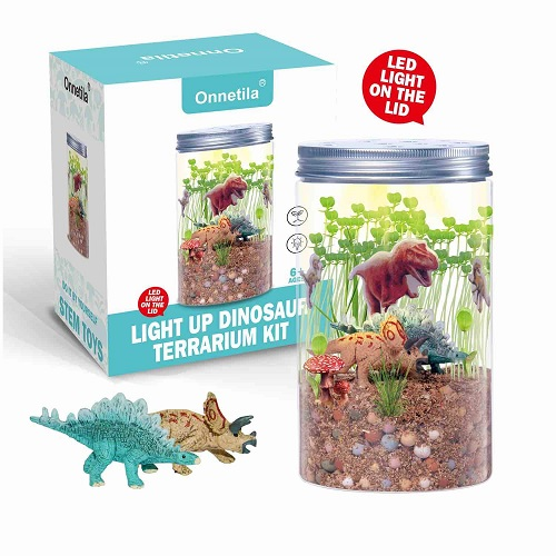 Dinosaur Fairy Garden in a Jar