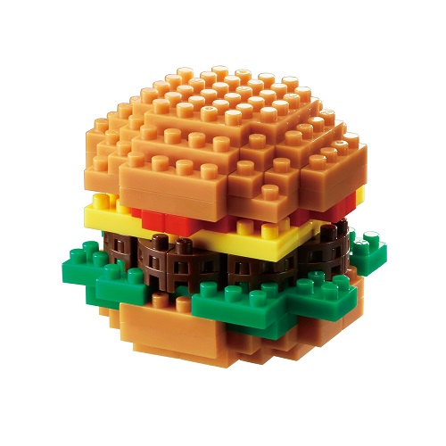 Nanoblock Hamburger Building Kit | Stocking Stuffers for Tweens