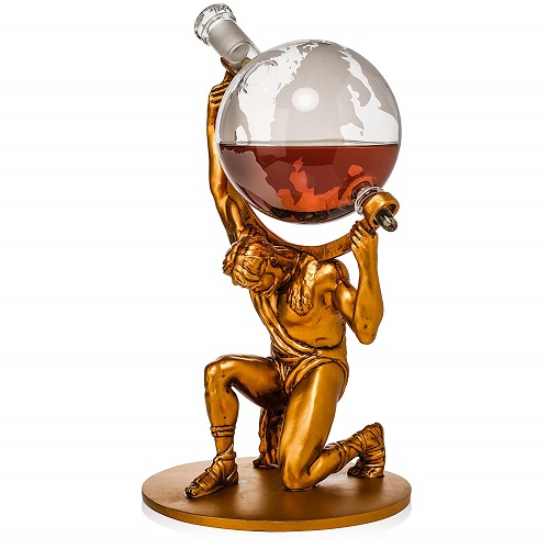 Christmas Gift Ideas | Atlas Man Whiskey Decanter | Gifts for Boyfriend