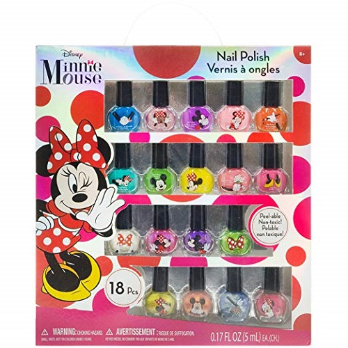 Disney Minnie Mouse Nail Polish Set | Stocking Stuffers for Tweens
