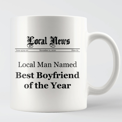Christmas Gift Ideas | Best Boyfriend of the Year Mug | Gifts for Boyfriend