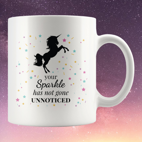 nUicorn Sparkle Motivational Quote Mug | Christmas Gifts for Teen Girls