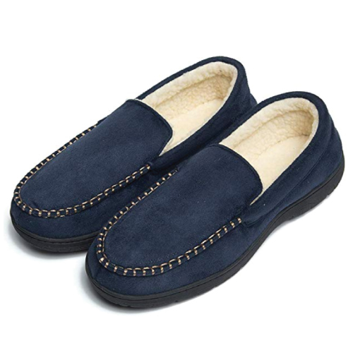 Christmas Gift Ideas | FootTech Memory Foam Loafer Slippers  | Gifts for Boyfriend