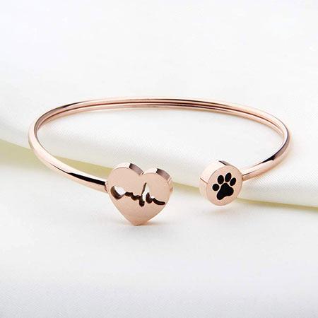 gifts-for-veterinarians-vet-paw-print-heartbeat-rose-gold-bracelet