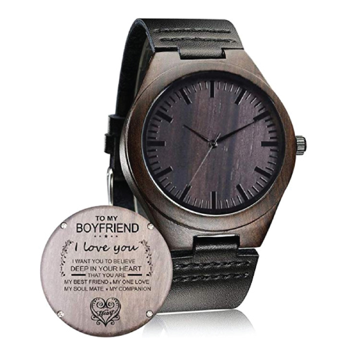 To My Boyfriend Engraved Watch