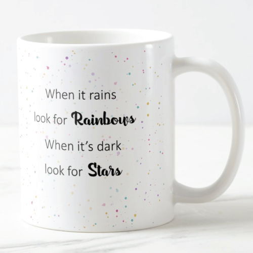 When It Rains Positive Life Quote Mug