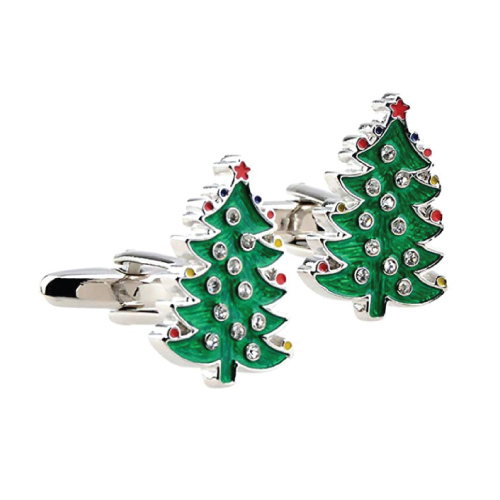 Christmas Gift Ideas | Christmas Tree Shaped Cufflinks | Gifts for Boyfriend