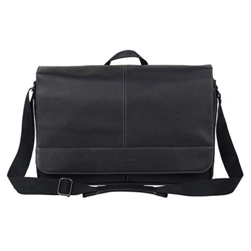 Kenneth Cole Reaction Come Bag Soon Leather Messenger Bag
