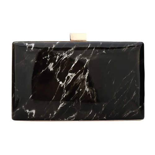 Black Marble Evening Clutch
