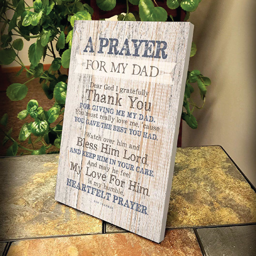 Dad Prayer Wood Plaque