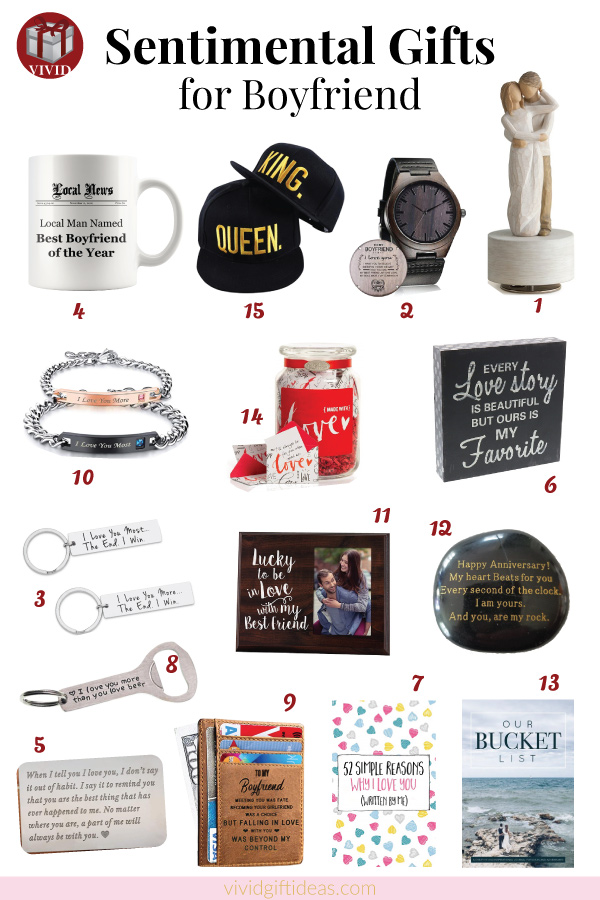 15 Sentimental Gifts For Your Boyfriend Make His Heart Melt