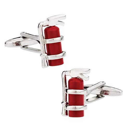 Cuff-Daddy Red Fire Extinguisher Cufflinks