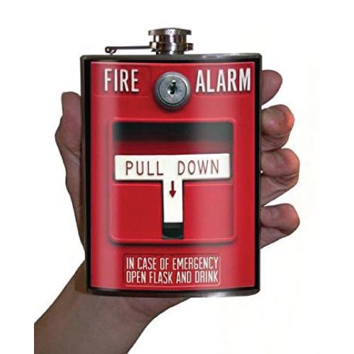Fire Alarm Emergency Novelty Flask