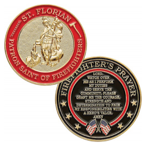 St. Florian Patron Saint of Firefighters Coin