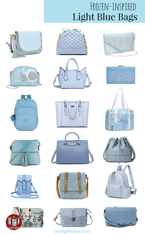 Frozen Light Blue Bags Collection