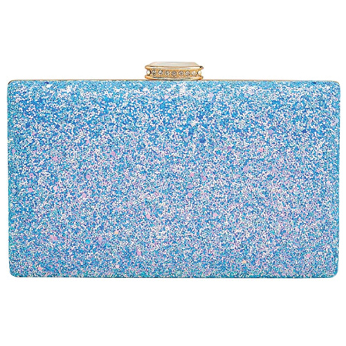 CARIEDO Light Blue Sparkling Clutch