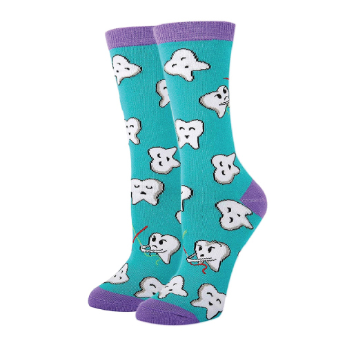 Funny Dental Tooth Crew Socks