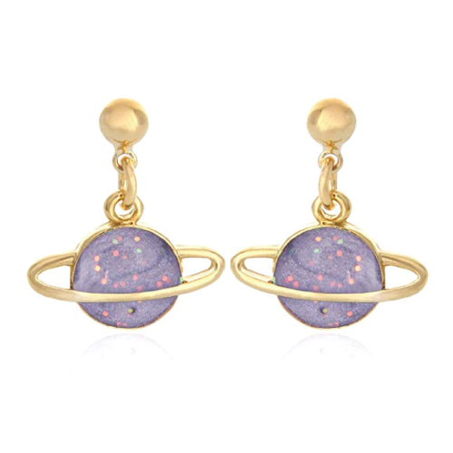 Planet Saturn Earrings