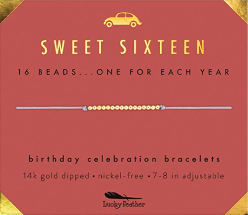 Lucky Feather Sweet 16 Birthday Bracelet