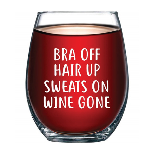 Wine Gone Funny Wine Glass for Women