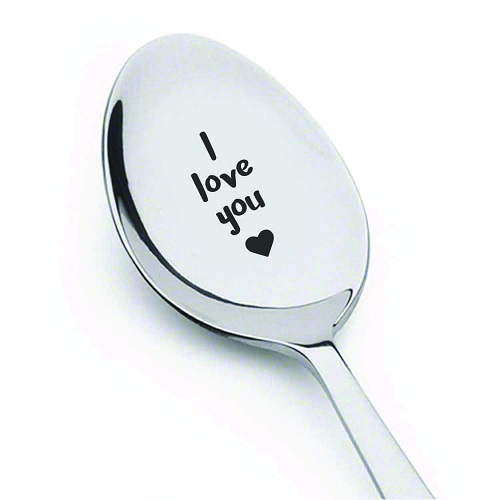 Engraved I Love You Spoon