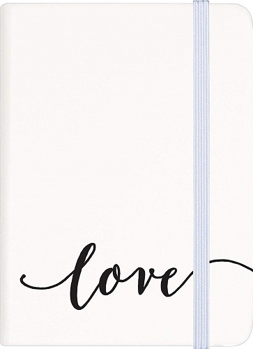 Love Classic White Composition Notebook
