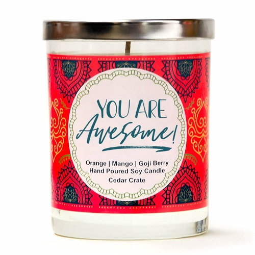 You are Awesome Luxury Scented Soy Candle