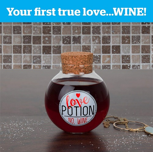 BigMouth Inc. Love Potion Stemless Wine Glass