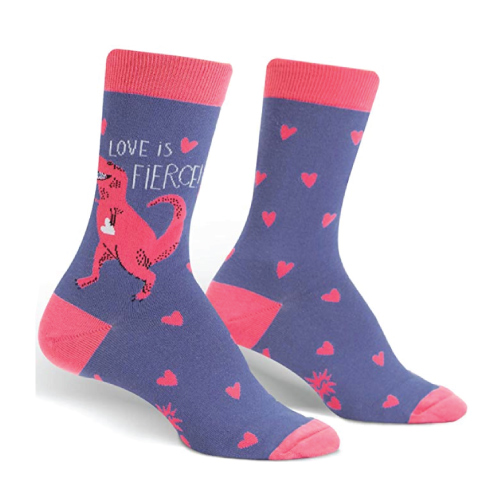 Love is Fierce Dinosaur Sock
