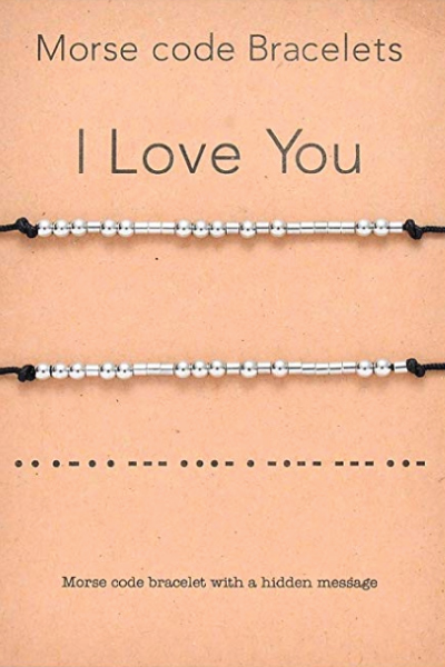 I Love You Morse Code Matching Bracelets