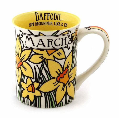 "Enesco ""March Birthday Flower"" Coffee Mug"