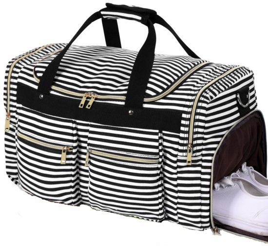 BLUBOON Weekender Overnight Duffel Bag for Women