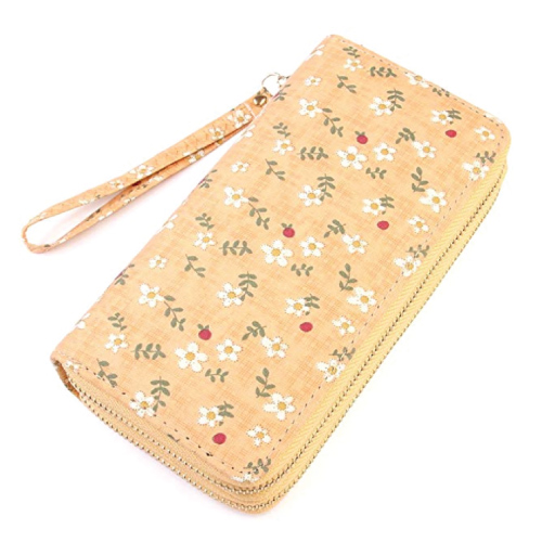 Daisy Print Zip Around Wallet