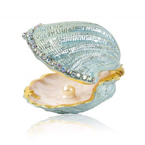 Vintage Pearl Mussel Trinket Box