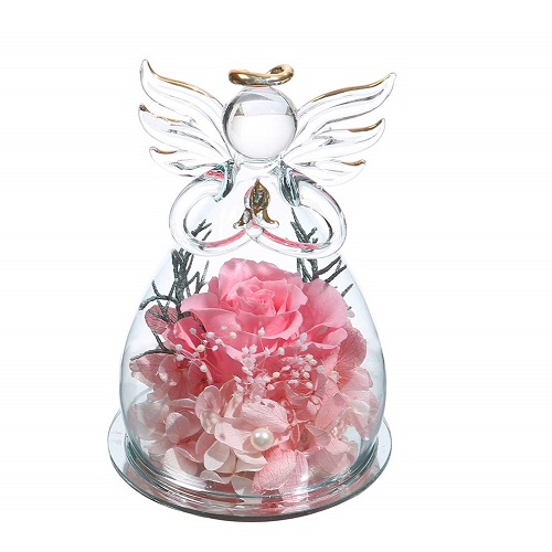 Eternal Rose Angle Globe Decor