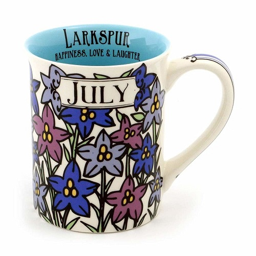Enesco July Birthday Flower Coffee Mug