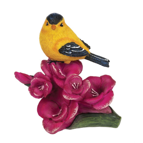 Ganz Spring Decor Bird Flower of The Month Figurine