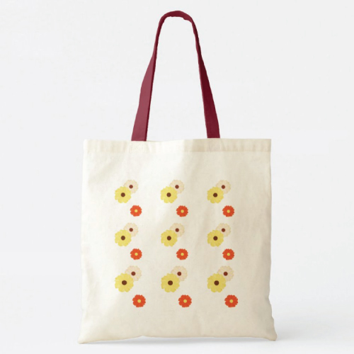Daisy Floral Pattern Tote Bag