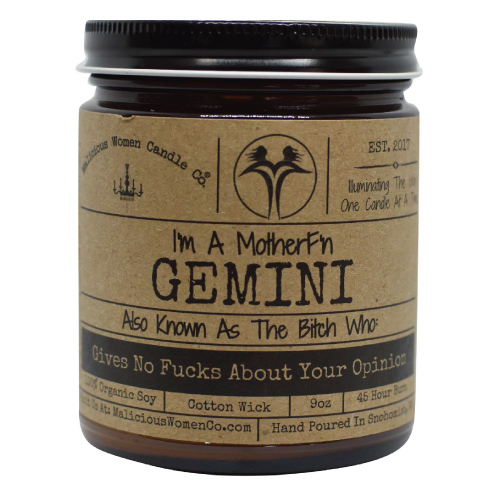 gemini-candleGemini The Zodiac Bitch Candle