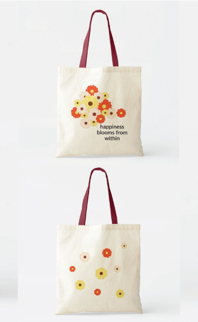 Happiness Blooms Daisy Tote Bag