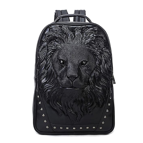 Lion Head Studded Backpack