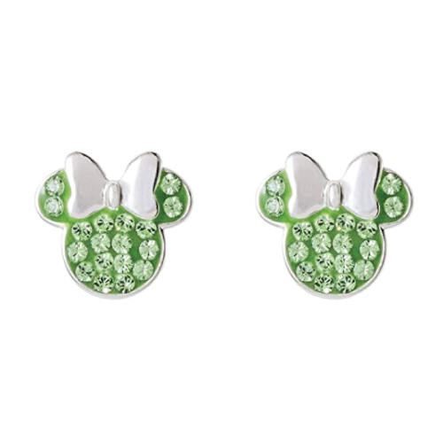 Disney Minnie Mouse August Birthstone Earrings