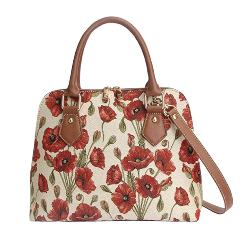Signare Tapestry Poppy Flower Shoulder Bag