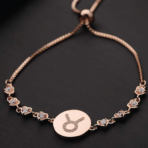 Taurus Sign Adjustable Bracelet